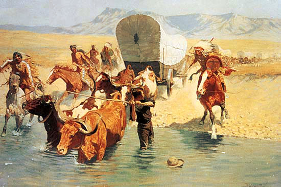 native-americans-attack-covered-wagon